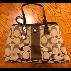 Large Coach Brown/Tan Handbag - New w/out Tags